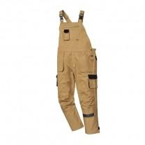 TX12EKR - Pantaloni cu pieptar epic kaki TEXO CONTRAST (PN)