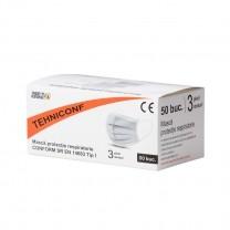 Masca de protectie respiratorie 3 straturi 50 buc Tehniconf