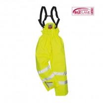 S781YER - Pantaloni impermeabili Hi-Vis galbeni captusiti Bizflame (P1W)