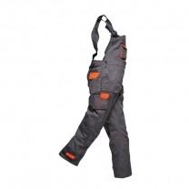 TX12GRR - Pantaloni cu pieptar gri carbune TEXO CONTRAST (PN)