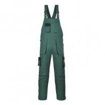 TX12BGR - Pantaloni cu pieptar verzi TEXO CONTRAST (PN)
