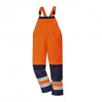 TX72ONR - Pantalon cu pieptar GIRONA HI-VIS portocalii (PN)