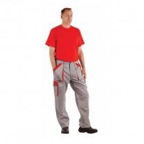 Pantaloni de protectie MAX gri/rosu (CN)