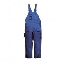 TX12RBR - Pantaloni cu pieptar albastru regal TEXO CONTRAST (PN)