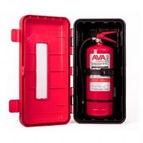 Cutie PVC stingator + Stingator de incendiu P6 pentru camion